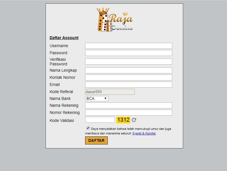 Cara Mendaftar User ID Di Situs BandarQ Online