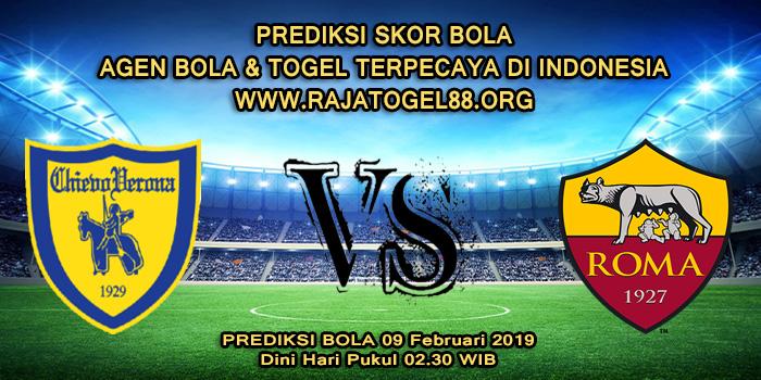 Prediksi Skor Bola Chievo vs AS Roma 09 Februari 2019